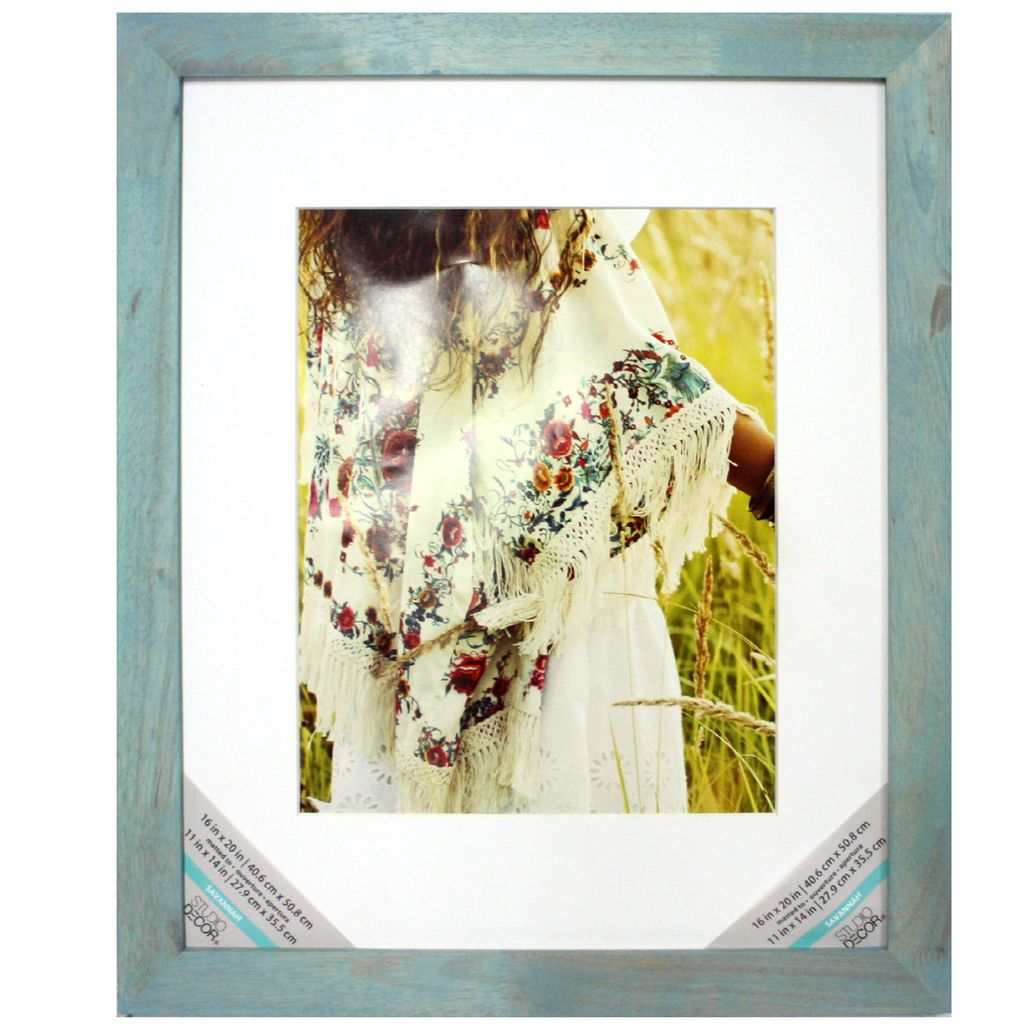 Turquoise Wash Frame With Mat Savannah By Studio Decor Printing Framing Decor Studio Frame