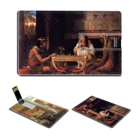Egyptian Juggler Egyptian Chess Players by Lawrence Alma-Tadema Oil Painting USB Flash Drive - www.dealok.com