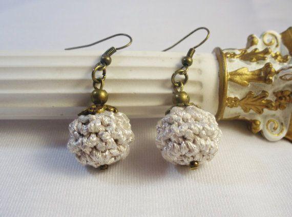 Pendientes plata pendientes de novia pendientes de por DIDIcrochet