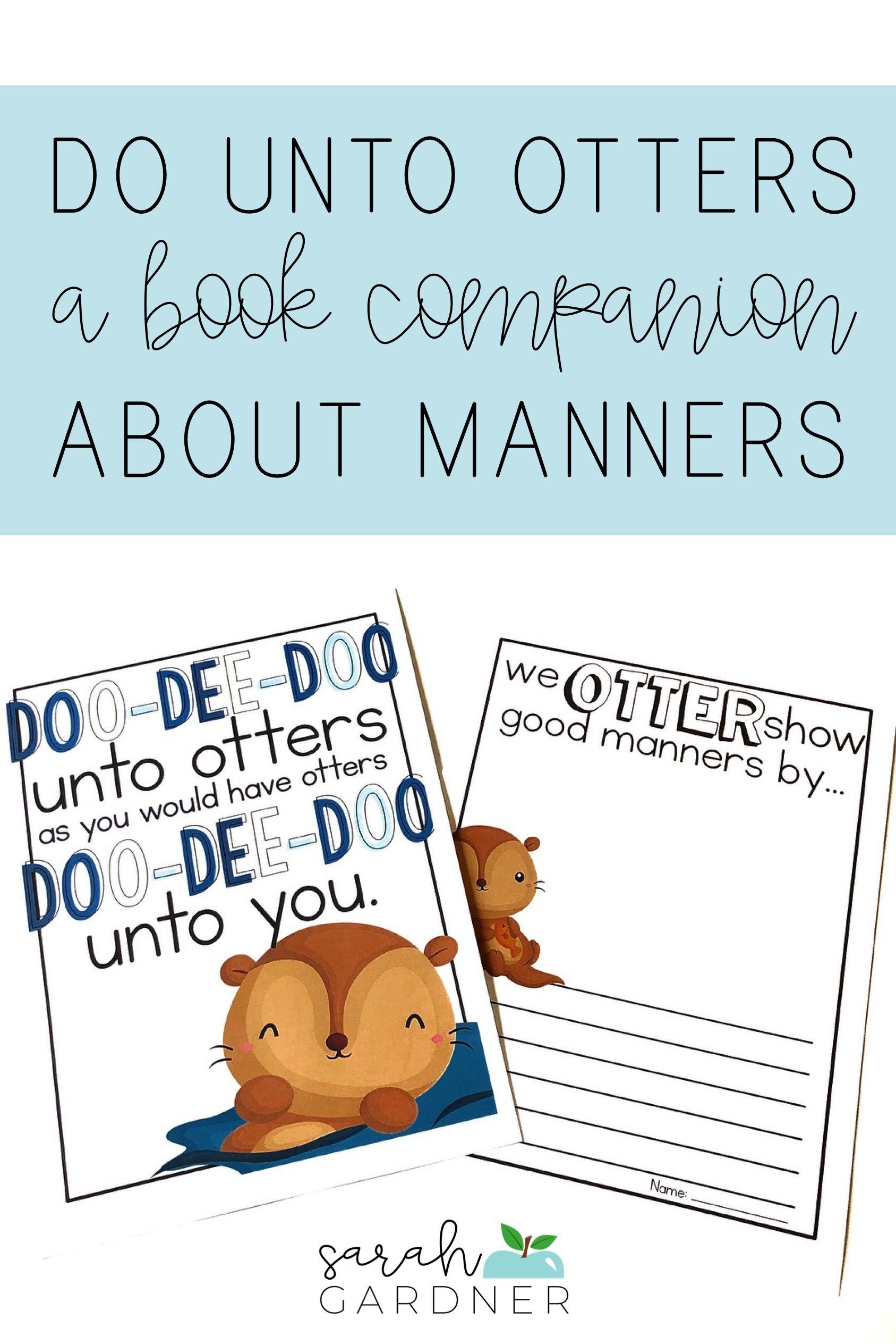 Do Unto Otters Back To School Book Companion