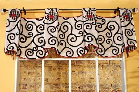 curtain valance patterns