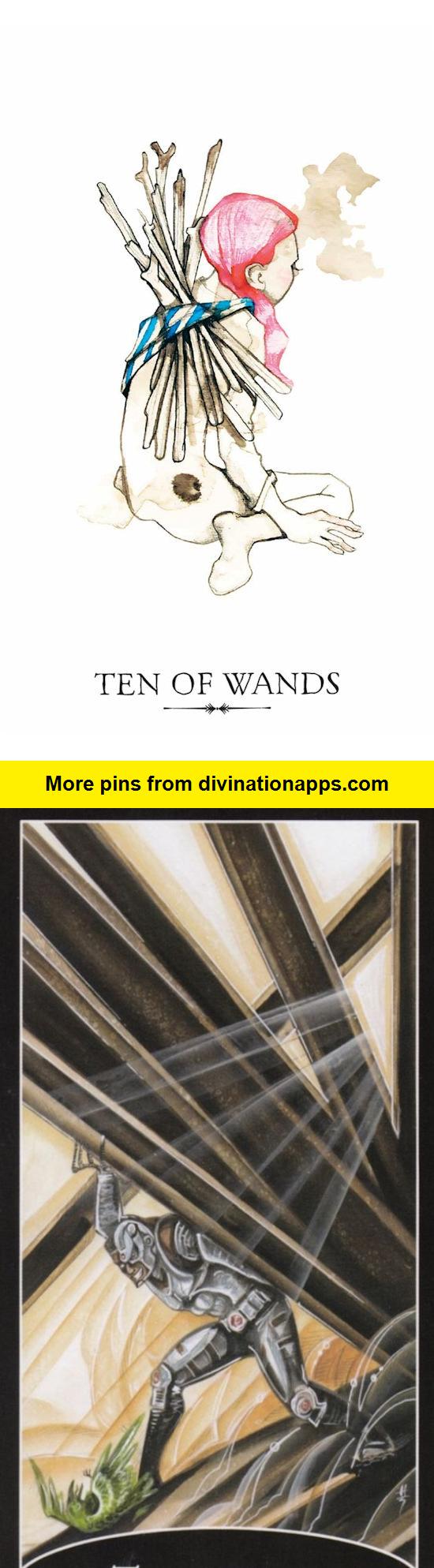 Best Tarot Decks 2020 Ten of Wands: burden and lack of priorities (reverse). Linestrider