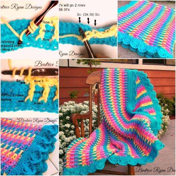 Wonderful DIY Crochet Rainbow Dash Baby Blanket with Free Pattern ...