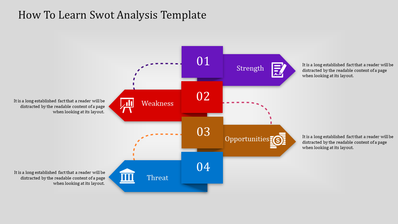 Swot Analysis Templateinfographic Model SWOT Analysis