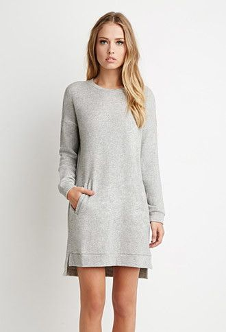 44d67f564107 Drop-Sleeve French Terry Dress | FOREVER 21 - 2000157959 ...