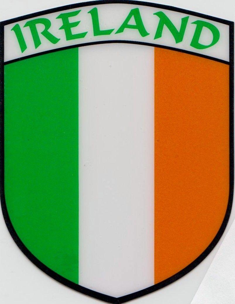 Ireland Flag Car Sticker Shield Self Cling Ireland Flag Irish Symbols Ireland [ 1038 x 803 Pixel ]
