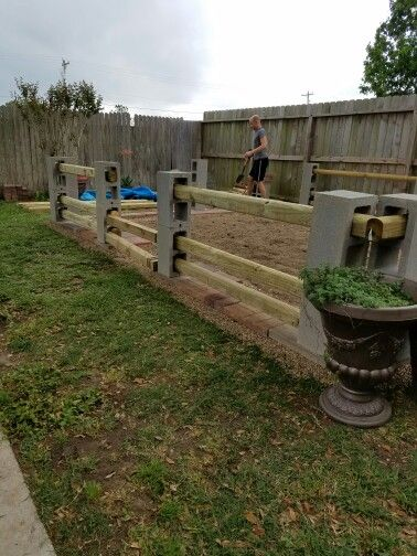 Mike S Garden Fence I Designed Built By Nicknme Stain Level