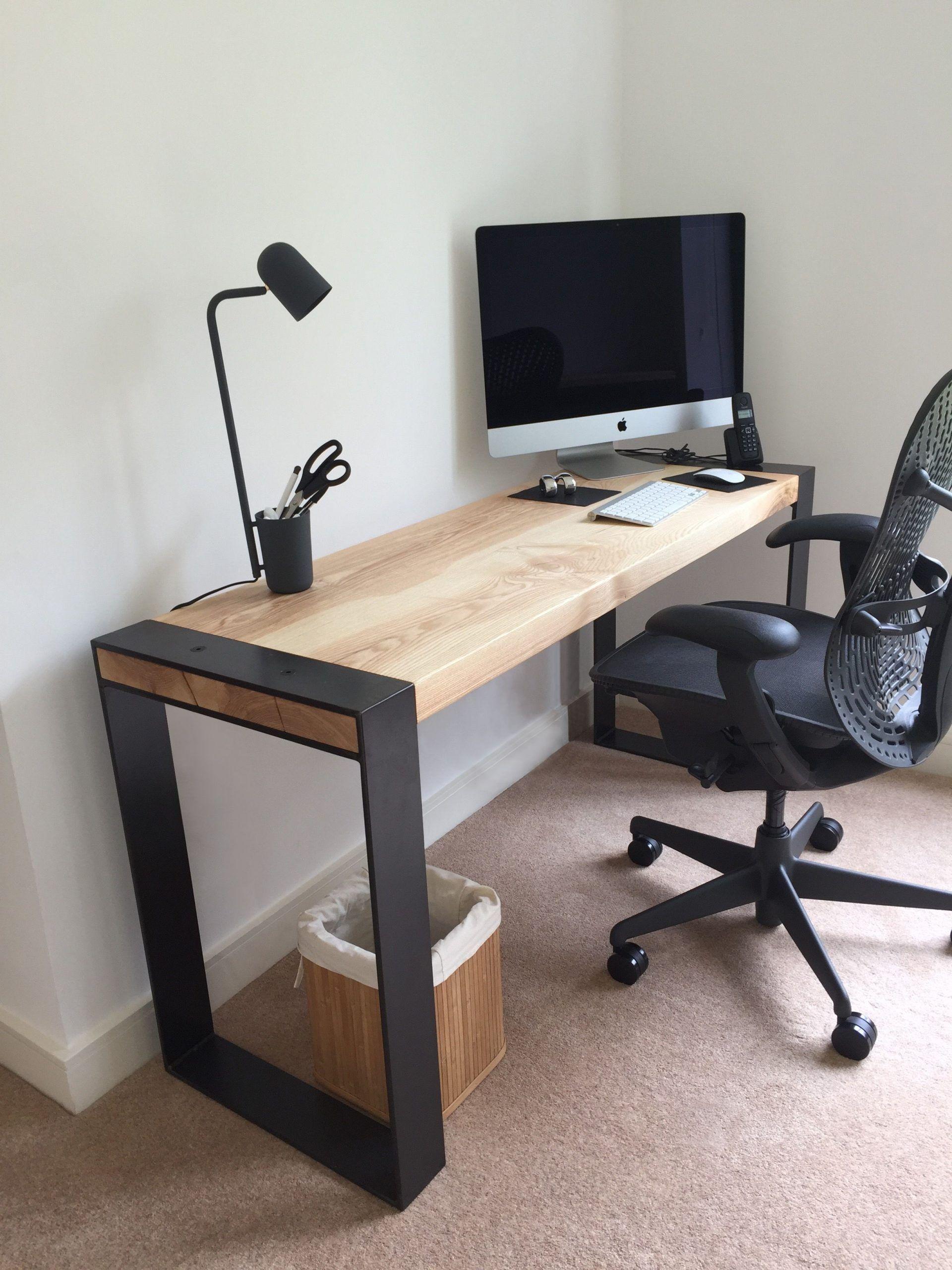 Maßgeschneiderte Asche Schreibtisch in Handarbeit in Sheffield, UK. Kommission Projekt gemacht mit Holz - / Stahl-Gerahmte Beine / Moderne Desig... #vintageindustrialfurniture - Markos Charlize