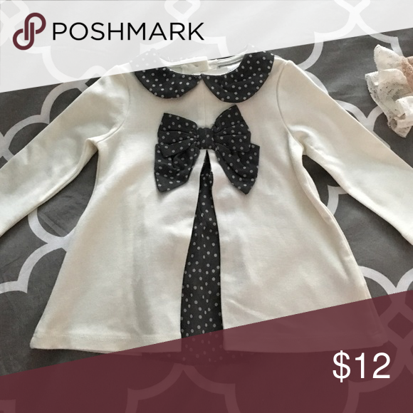 Baby Girl dress shirt Brand new with tags shirt with color and bow Shirts & Tops Blouses