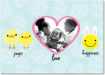peeps love and happiness personalized easter cards from treat com