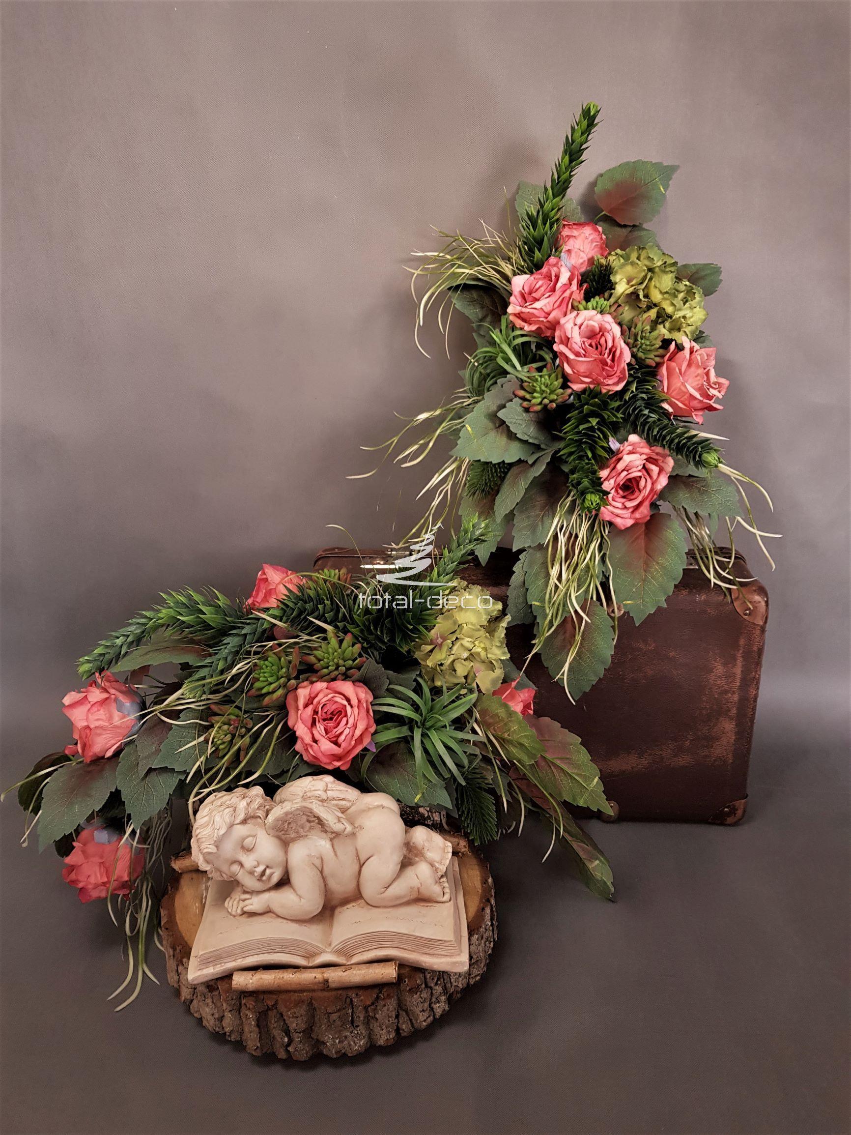 Dekoracja Na Wszystkich Swietych Ekskluzywne Stroiki Na Cmentarz Funeral Flowers Flower Arrangements Grave Decorations