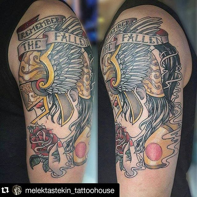 So good to see my remember the fallen design tattooed on