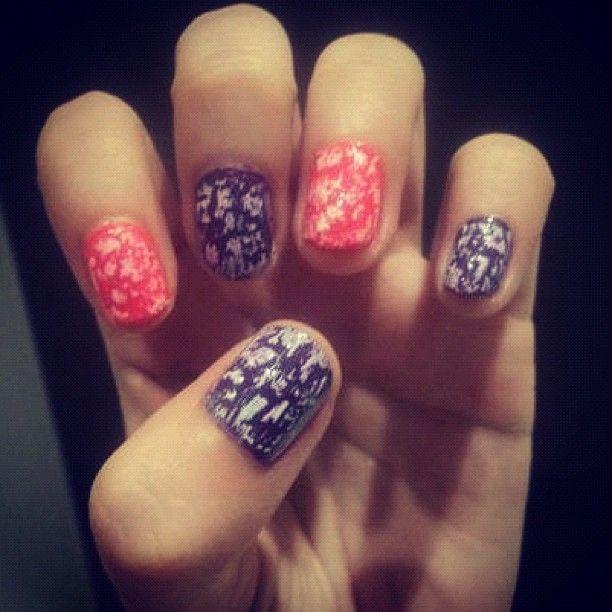 *my mottled nails. @ayflaca