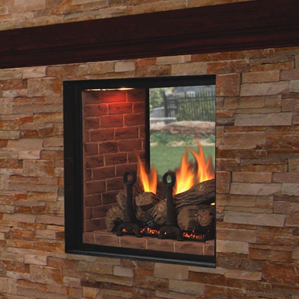 Marquis Clear View See-Thru Direct Vent Fireplace - 48 ...