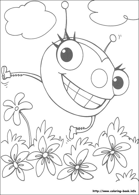 miss spider coloring picture - Spider Coloring Book