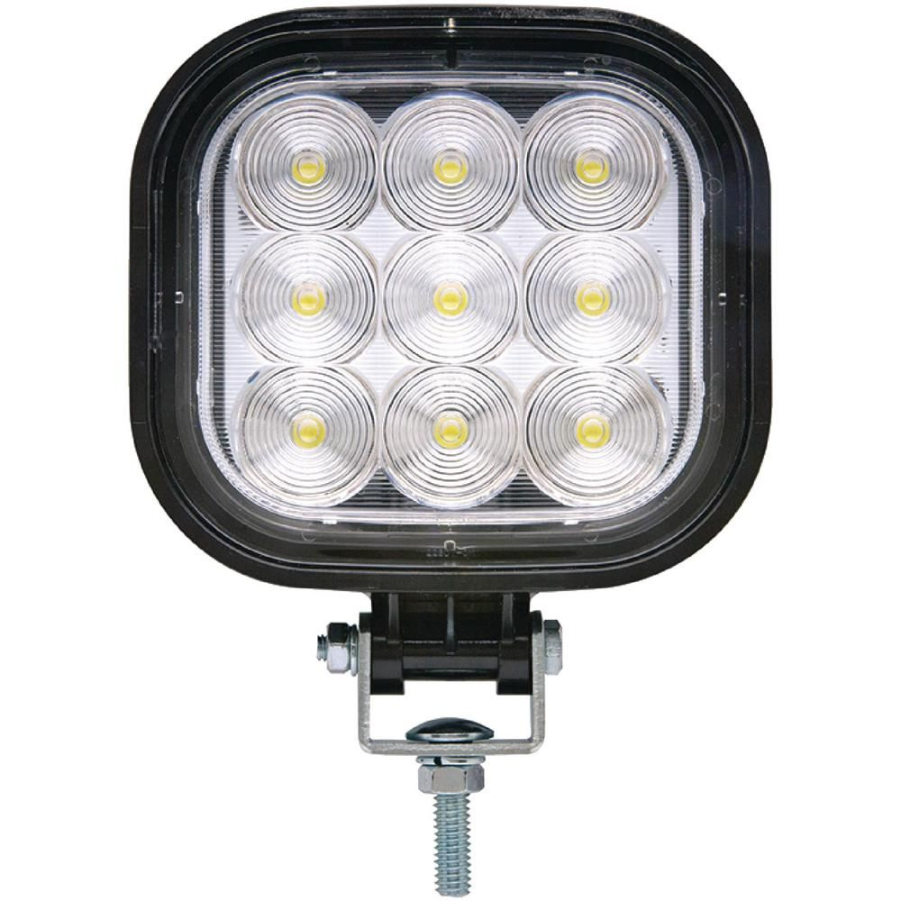 Seachoice 12 Volt 24 Volt Led Flood Beam Square Work Light 9 Leds Black Housing Work Lights Led Beams