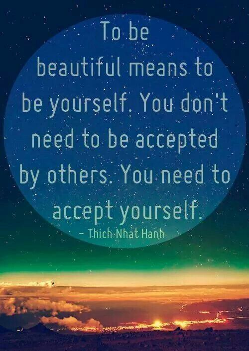 Accept youself