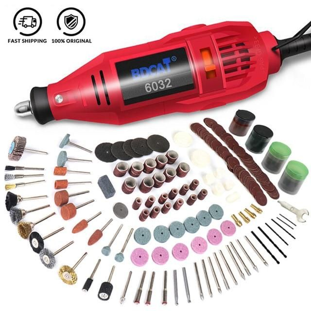 Photo of Mini Engraver Electric Rotary Grinder Tool DIY Hand Drill Engraving Grinding Polishing Machine Dremel Power Tool Accessories Set – 149pcs / EU