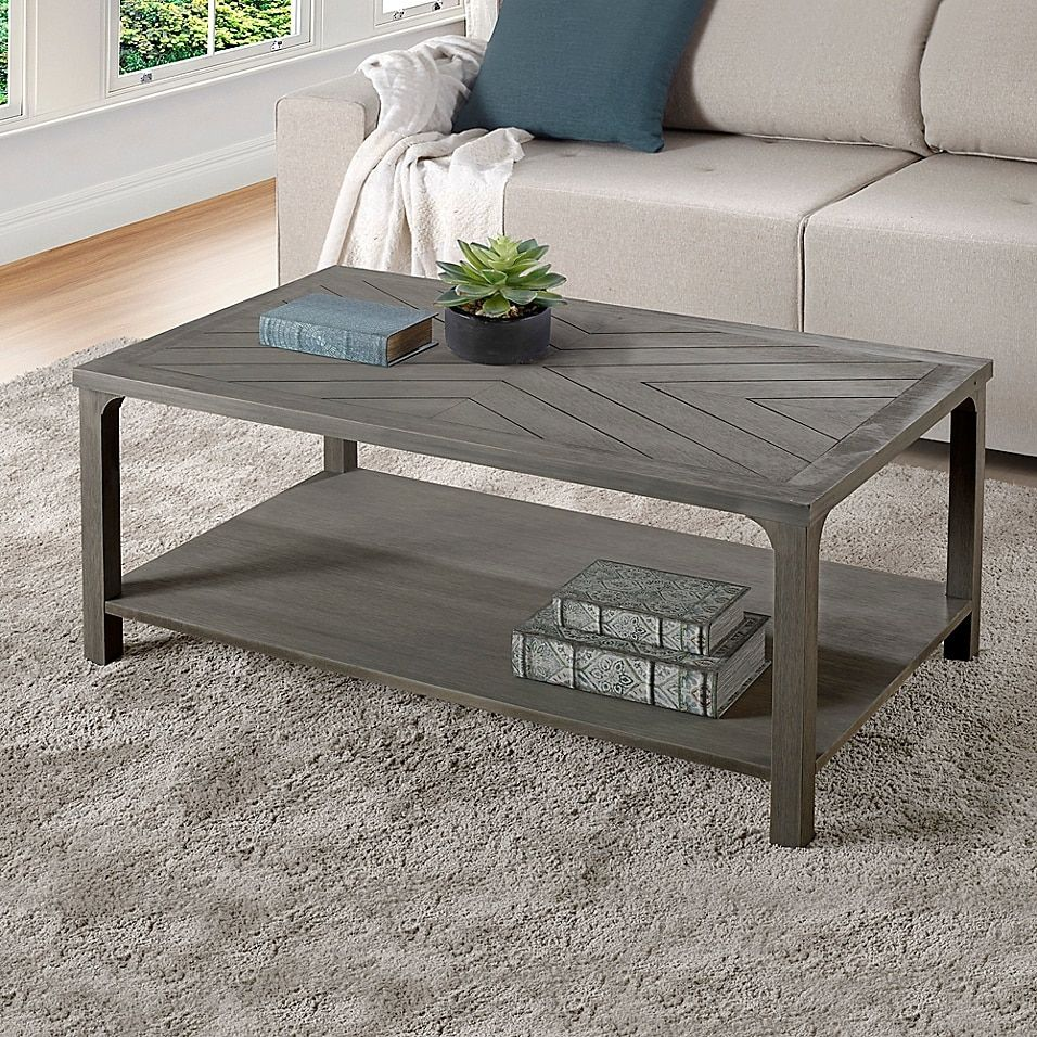 Forest Gate Solid Wood Coffee Table Bed Bath Beyond Coffee Table Grey Coffee Table Rectangle Coffee Table Wood [ 956 x 956 Pixel ]