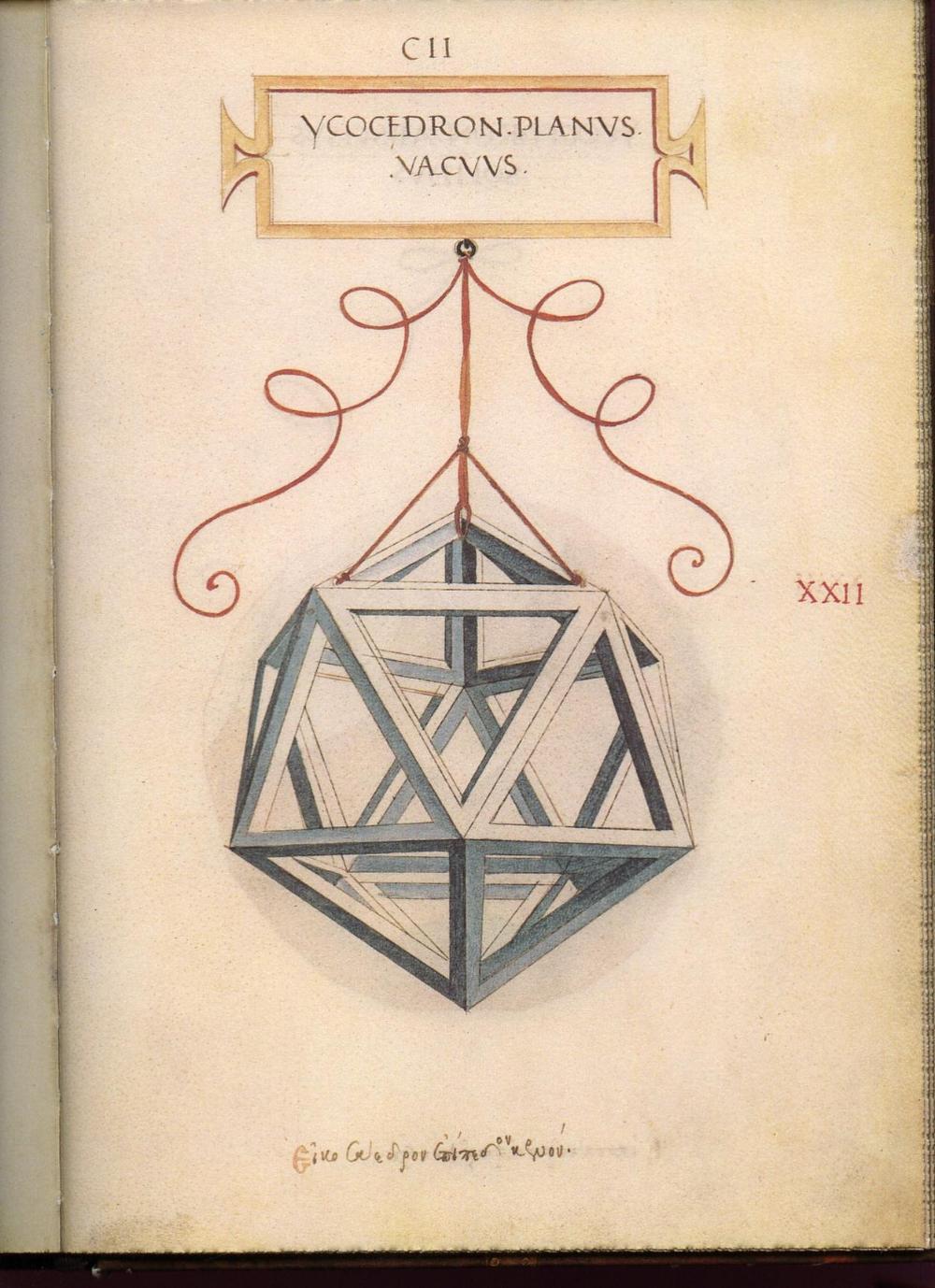 Leonardo Da Vinci S Geometric Sketches Icosahedron Mathematical Association Of America Leonardo Da Vinci Tutorial Legatoria Sezione Aurea