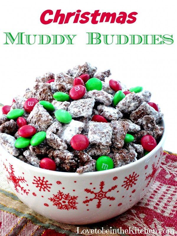 Christmas Muddy Buddies #holidaytreats