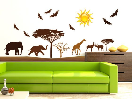 Wandtattoo wanddeko f r kinderzimmer afrika style wanddeko f r kinderzimmer - Dekoration afrika style ...