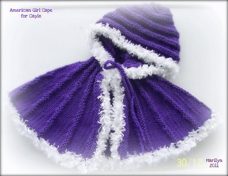free cape pattern for American Girl dolls...if only I knew how to ...