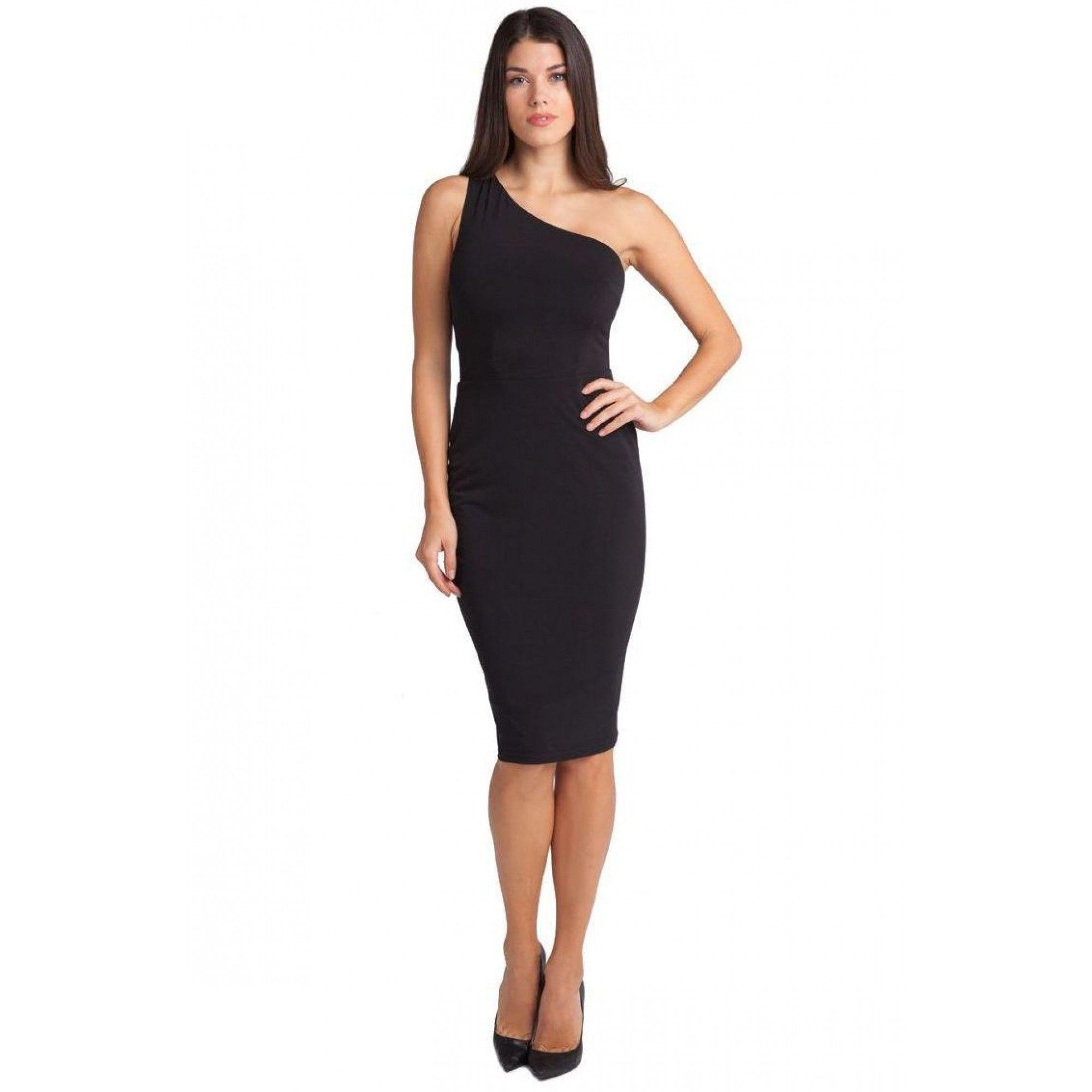 7cb952450f5 Φόρεμα midi εφαρμοστό με ένα ώμο Σύνθεση: 100%POL Shoulder Dress, One  Shoulder