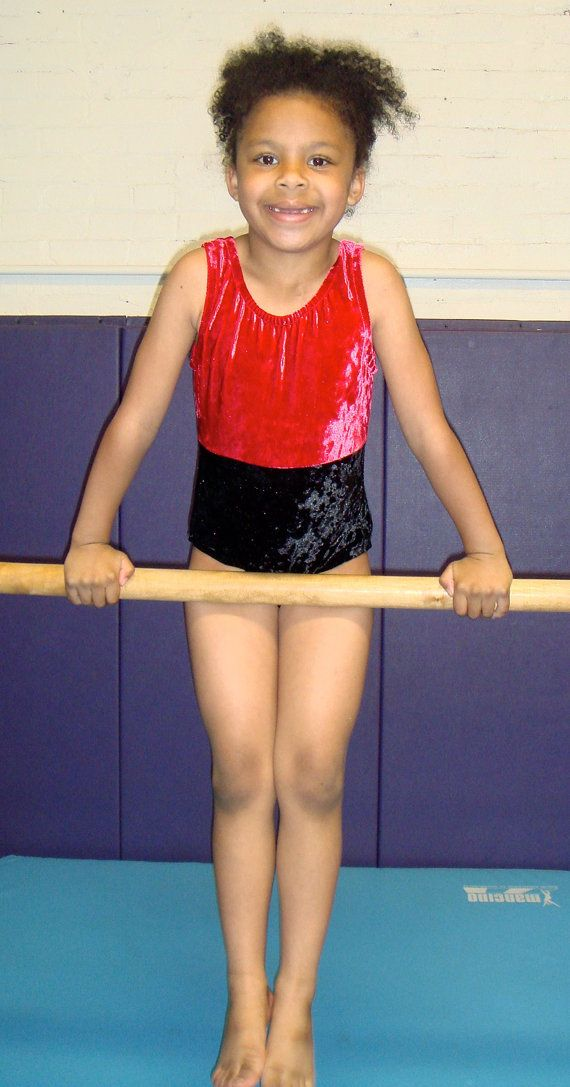398f5c5e93e6 Red and Black Gymnastics leotard by Eastsidelights on Etsy