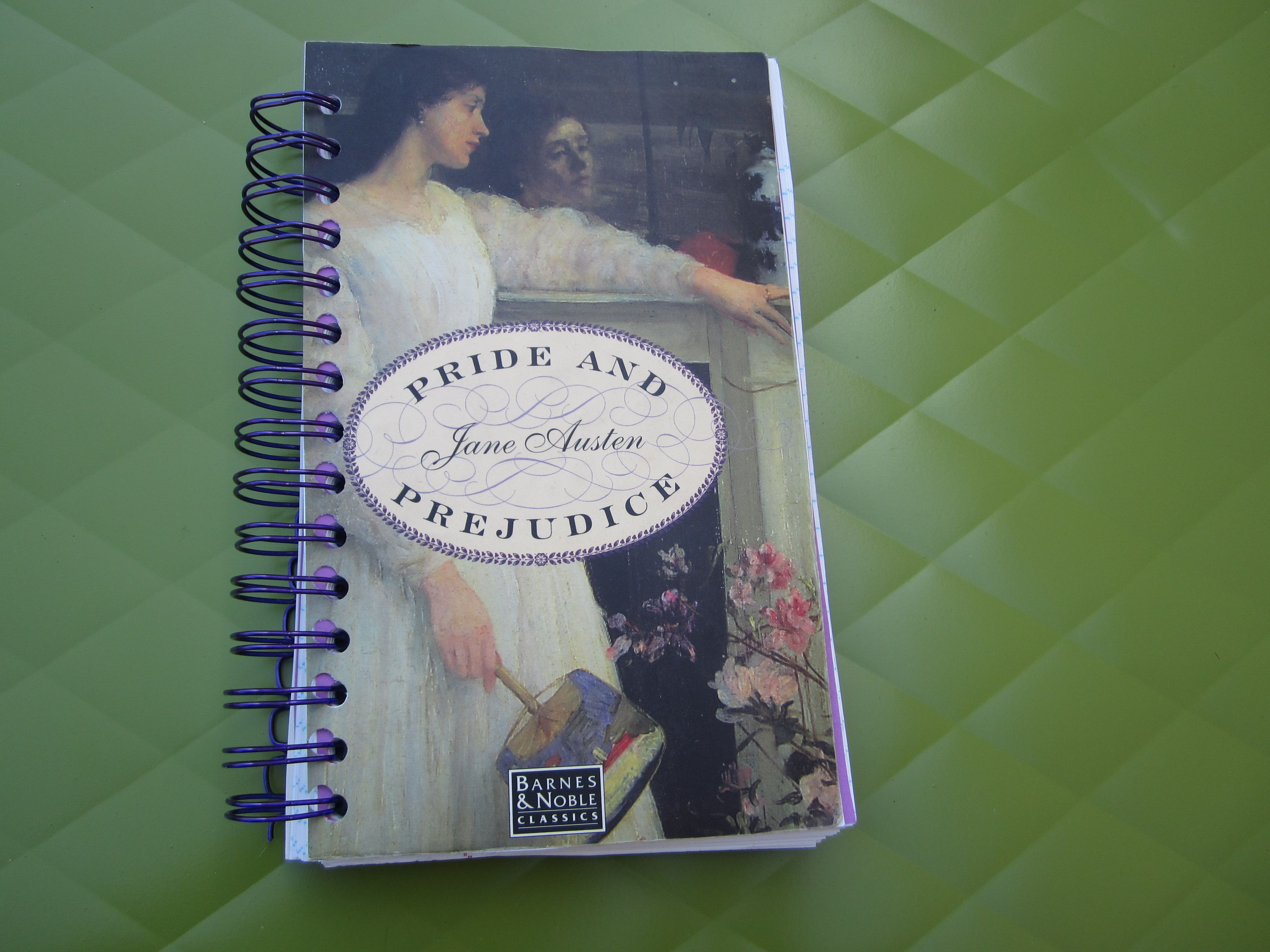 Pride and Prejudice Notebook made from old book cover