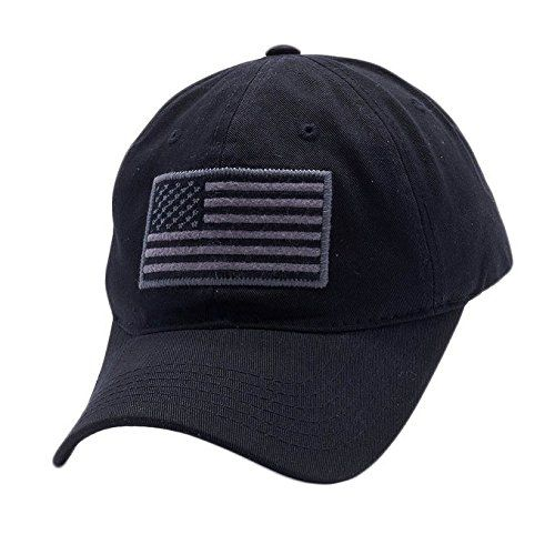 USA American Flag Baseball Cap Military Army Operator Adjustable Hat (Black) 7dfad40f3f1