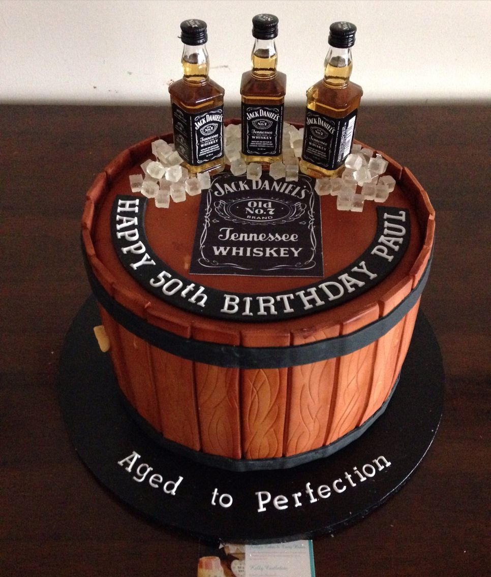 50th Birthday Liquor: Jack Daniel's Inspired Cake €�