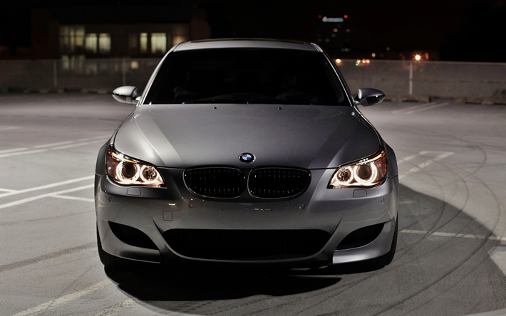 Bmw M5 E60 Wallpaper: Download Wallpapers BMW M5, E60, Darkness, 4k, Tuning
