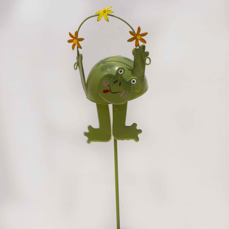 Pflanzenstecker Frosch grün