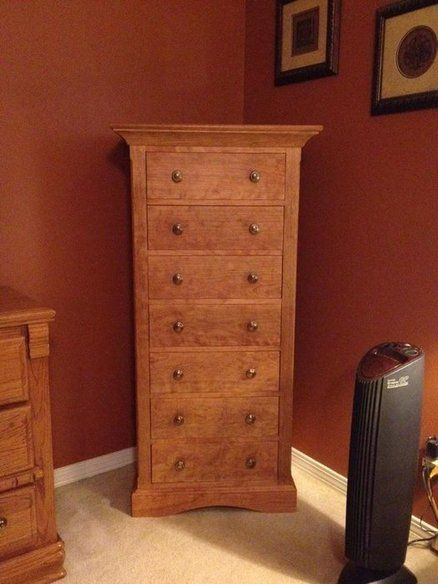 Best Tall Narrow Dresser With Flush Faced Dovetailed Drawers 400 x 300