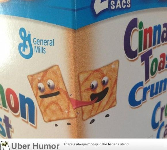 Moved to Canada the first thing I noticed was how kinky the cereal was here.