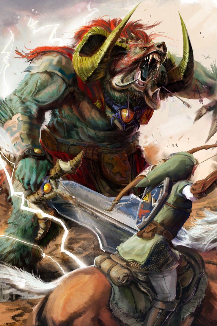Link Vs Ganon By Bumbleton Cool Videojuegos Zelda La