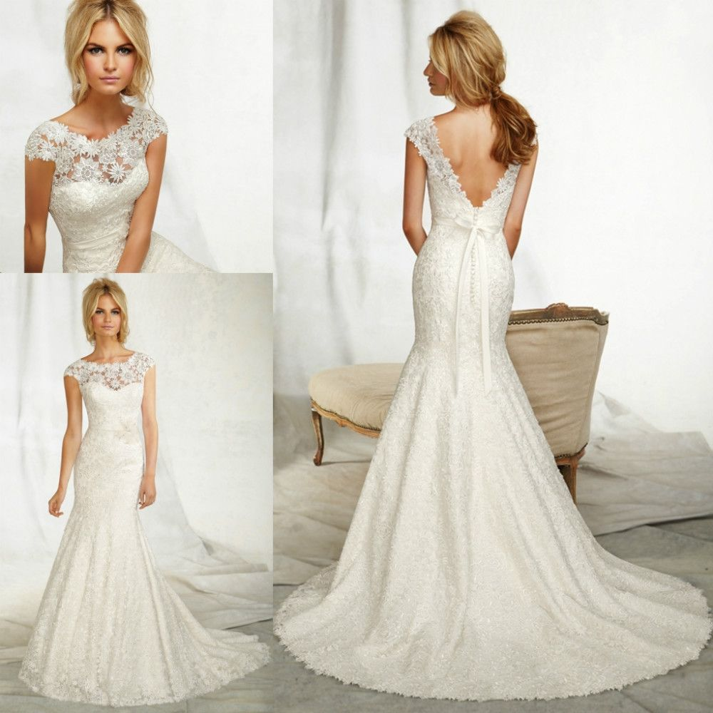 Fancy trumpet style wedding dress with lace Google Search