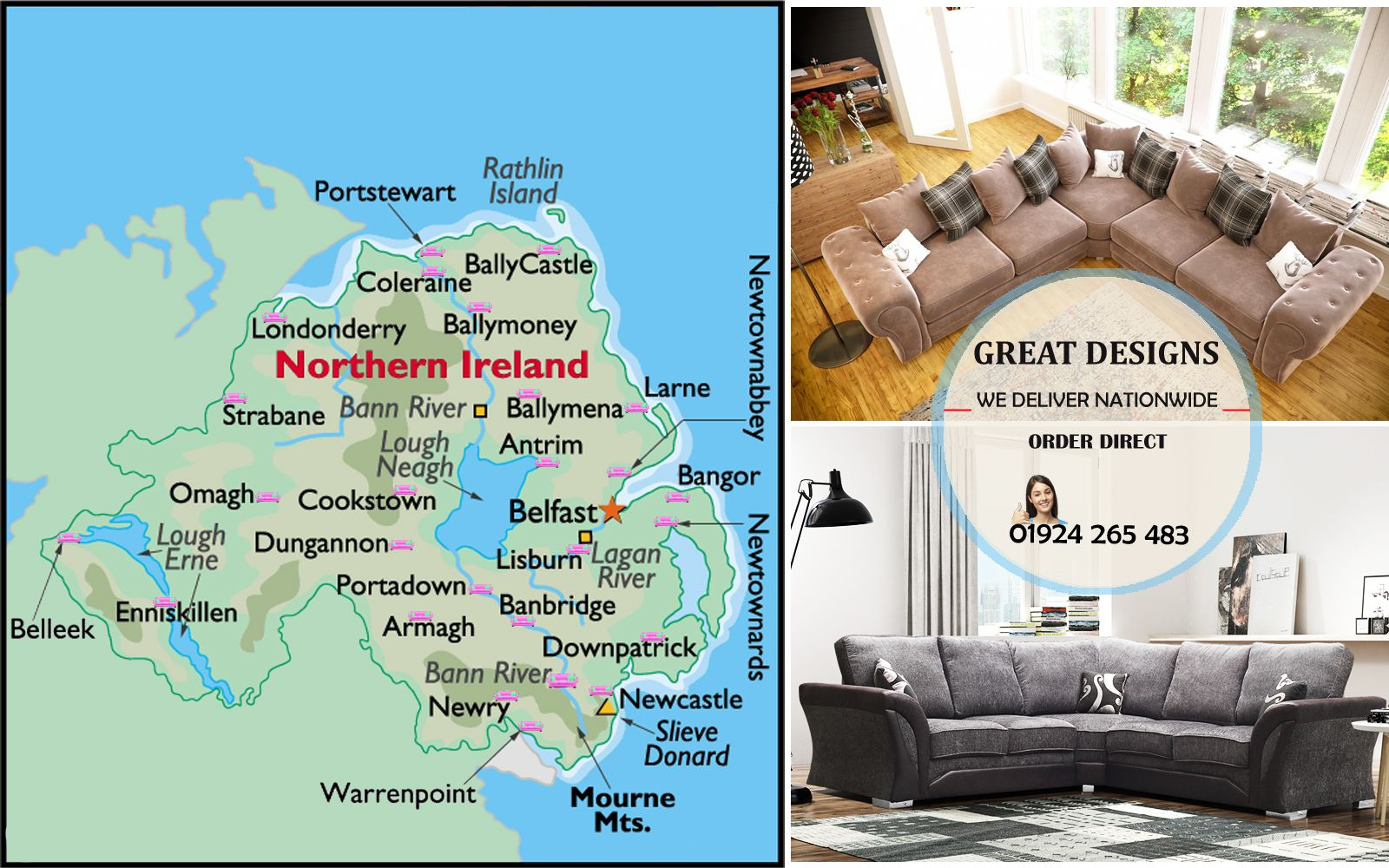 We Delivery Sofa To Northern Ireland Sofa King Omagh Northern Ireland