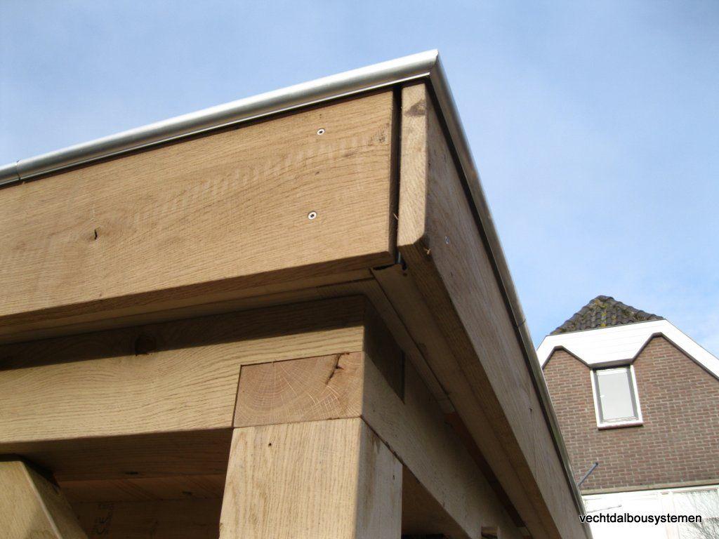 Plat dak maken schuur cool eiken schuur steenwijk with plat dak