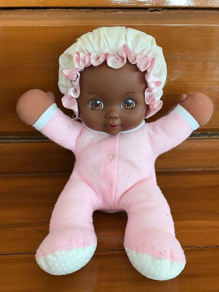 1990s Rare Playskool My Very Soft Baby African American