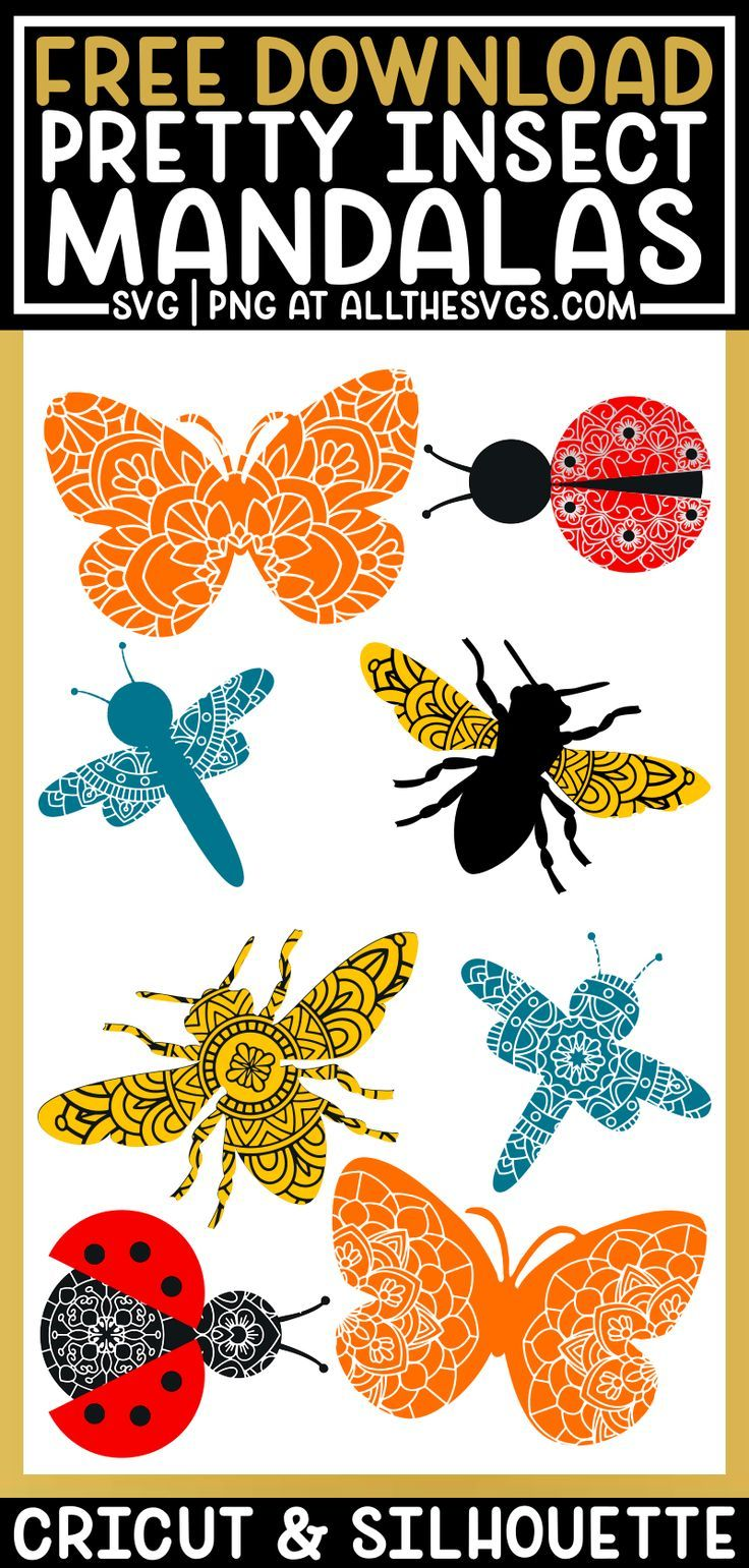 Download free insect mandala svg files for cricut silhouette ...