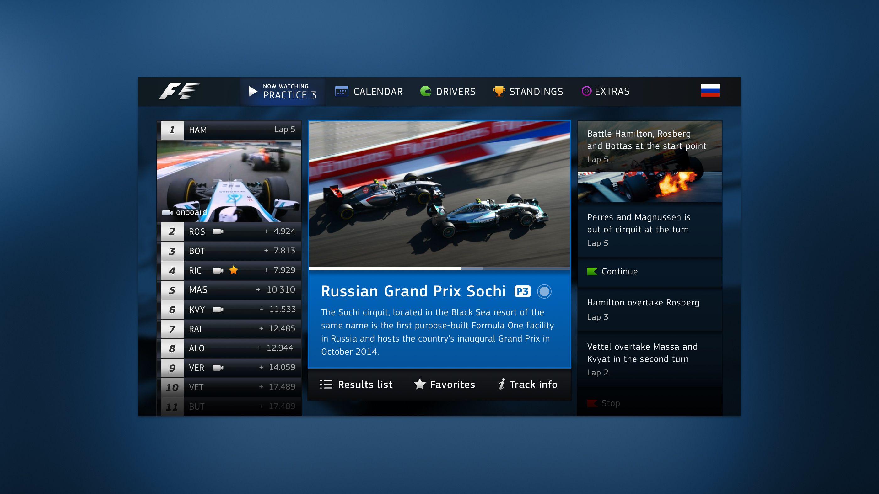 F1 TV App / Alex Sol | TV & Second Screen Apps | Tv app, F1