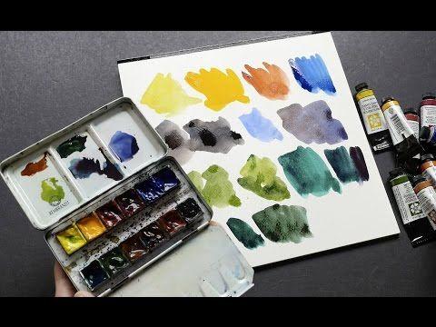 My Daniel Smith Watercolor Palette Review Youtube Art