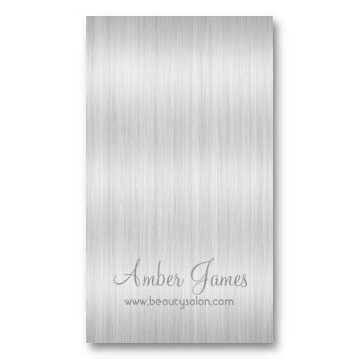 Long Wavy White Hair Colorist Business Card