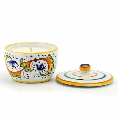 Photo of Fleur De Lis Living Perugino Design Scented Jar Candle Candle jars Mason jar can…