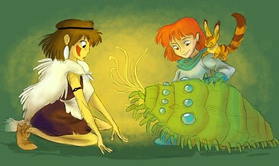 Mononoke and Nausicaa | I feel like these two could definitely be besties