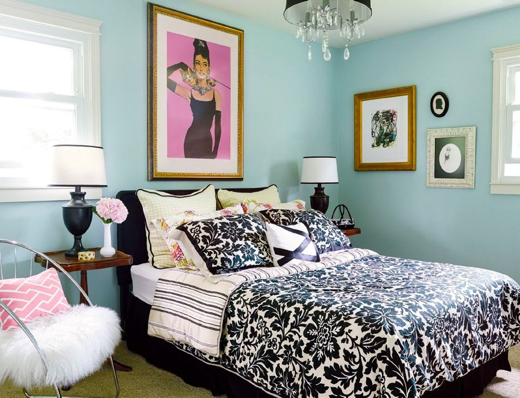 breakfast at tiffanys inspired room eclectic decorating ideas for small spaces - Small Guest Bedroom Decorating Ideas