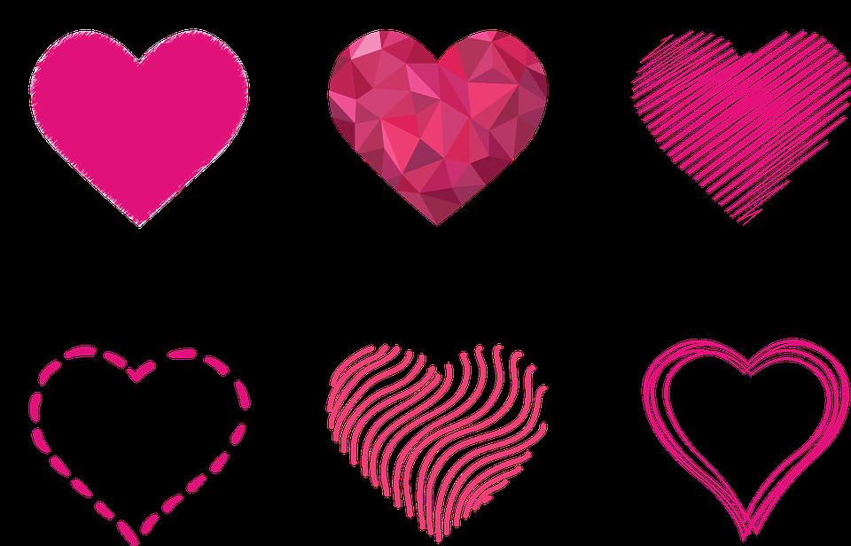 Image gratuite sur Pixabay Coeur, Contours, Prisme