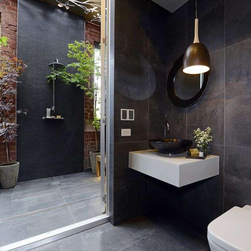 Shop their looks the first Block bathroom reveals